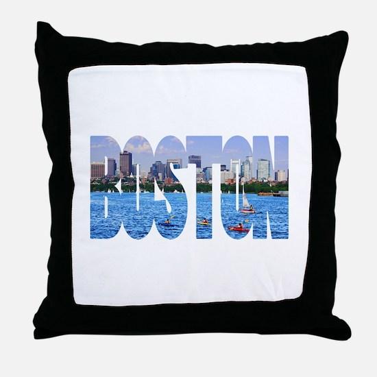 Boston Back Bay Skyline Throw Pillow