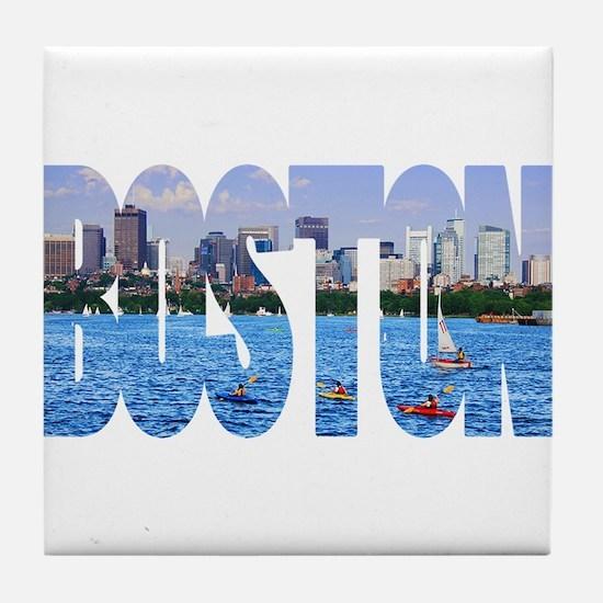 Boston Back Bay Skyline Tile Coaster