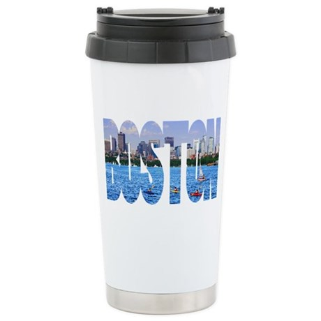 Boston Back Bay Skyline Stainless Steel Travel Mug