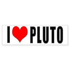 l love pluto Bumper Bumper Sticker