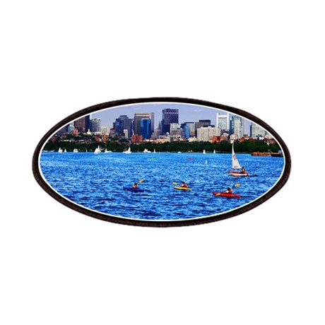 Boston Back Bay Skyline Charles River Patches