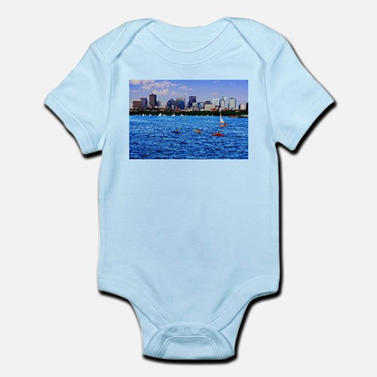 Boston Back Bay Skyline Charles River Infant Bodys