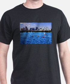 Boston Back Bay Skyline Charles River T-Shirt