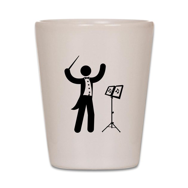 Music conductor shot glass by enterstickman for Glass conductors