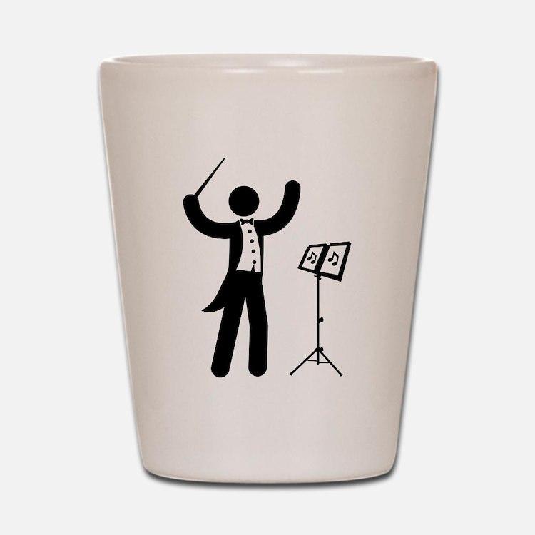 Music Conductor Shot Glass
