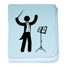 Music Conductor baby blanket