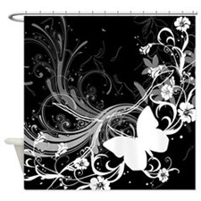 Abstract Butterfly Shower Curtain