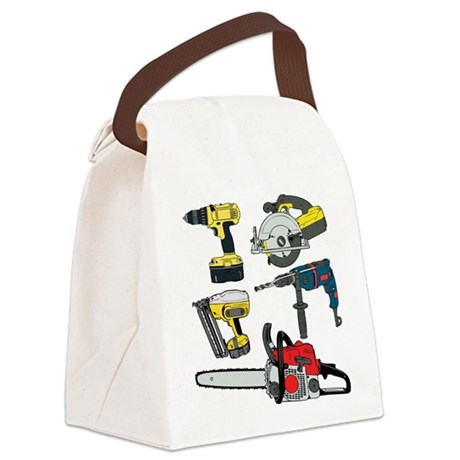 Power Tools. Canvas Lunch Bag
