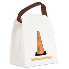 Traffic Cone and Your Text. Canvas Lunch Bag