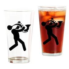 Saxophonist Drinking Glass