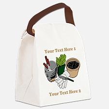 Gardening. Custom Text Canvas Lunch Bag