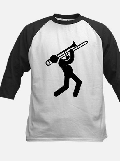 Trombone Player Kids Baseball Jersey