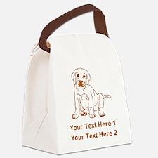 Puppy, Brown Labrador. Canvas Lunch Bag