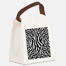 Zebra Print Pattern Canvas Lunch Bag