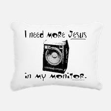 monitordark.png Rectangular Canvas Pillow