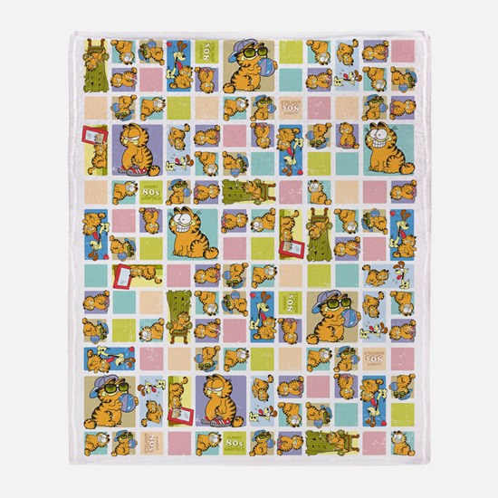 Classic Garfield Squares Throw Blanket