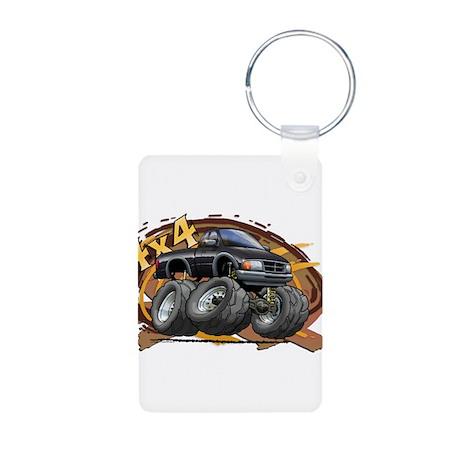 Black Ranger Aluminum Photo Keychain