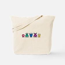 Kawaii Rainbow Alien Monsters Tote Bag