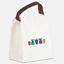 Kawaii Rainbow Alien Monsters Canvas Lunch Bag
