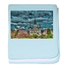Jackson Square, New Orleans baby blanket