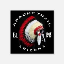 "Apache Trail Arizona Square Sticker 3"" x 3"""
