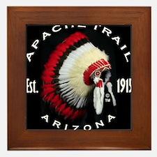 Apache Trail Arizona Framed Tile
