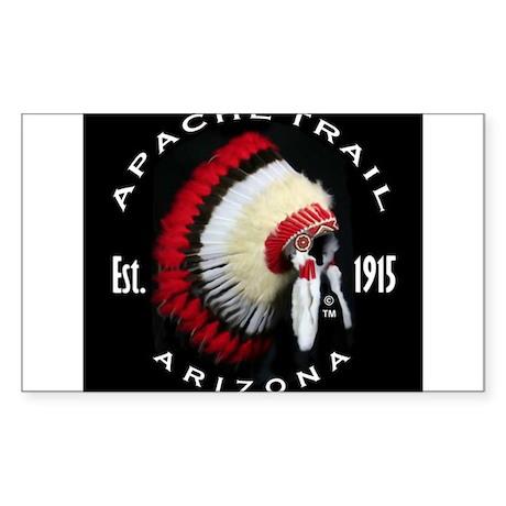 Apache Trail Arizona Sticker (Rectangle)