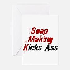 Soap Making Kicks Ass Greeting Cards (Pk of 10