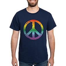 CRAZYFISH rainbow peace T-Shirt