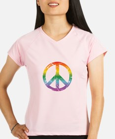 CRAZYFISH rainbow peace Performance Dry T-Shirt