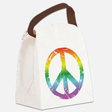 CRAZYFISH rainbow peace Canvas Lunch Bag