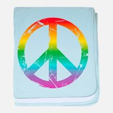 CRAZYFISH rainbow peace baby blanket