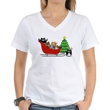6 Kitty Cat, Sleigh Christmas Tree - Shirt