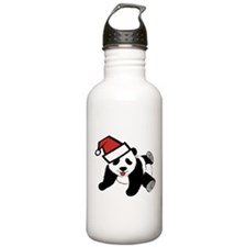 Funny Cute Santa Panda Water Bottle