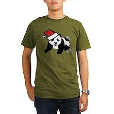 Funny Cute Santa Panda T-Shirt
