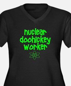 Nuclear DooHickey Worker Women's Plus Size V-Neck