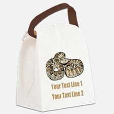 Snake Canvas Lunch Bag