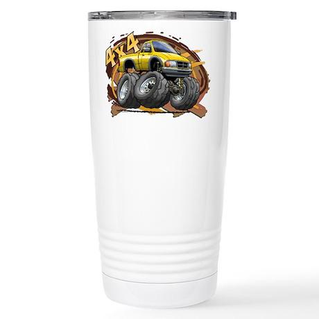 Yellow Ranger Stainless Steel Travel Mug