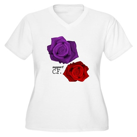 Support C.F. Women's Plus Size V-Neck T-Shirt