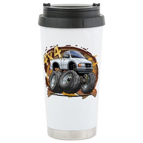 White Ranger Stainless Steel Travel Mug
