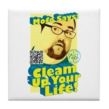 "MoFo ""Cleam Up"" Tile Coaster"