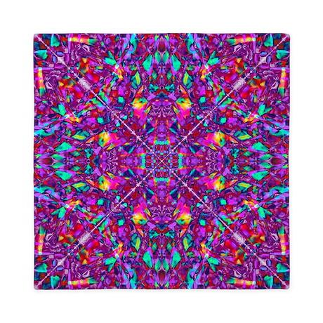Hippie Purple Mandala Pattern Queen Duvet