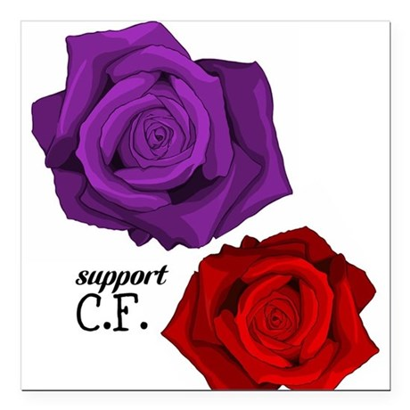 "Support C.F. Square Car Magnet 3"" x 3"""
