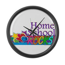 Home School Rocks! Large Wall Clock
