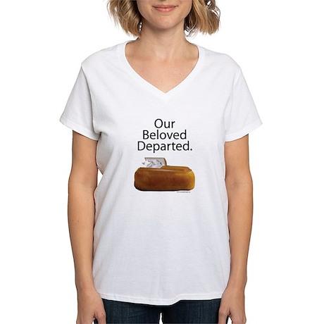 Our Beloved Departed Women's V-Neck T-Shirt