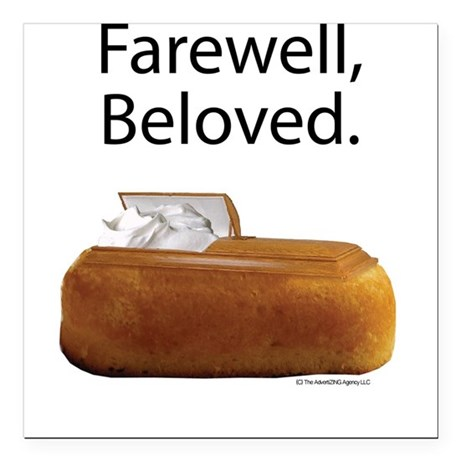 """Farewell, Beloved. Square Car Magnet 3"""" x 3"""""""