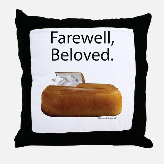 Farewell, Beloved. Throw Pillow