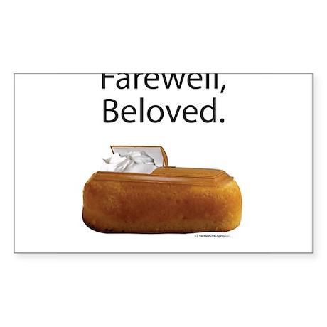 Farewell, Beloved. Sticker (Rectangle)