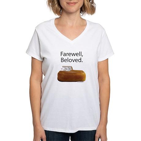 Farewell, Beloved. Women's V-Neck T-Shirt