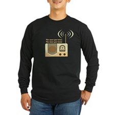 Women's Listen Radio Shirt Long Sleeve T-Shirt